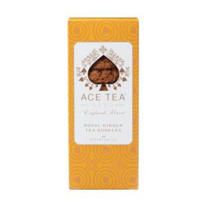Kjeksboks med ingefær-dunkers fra Ace Tea i London