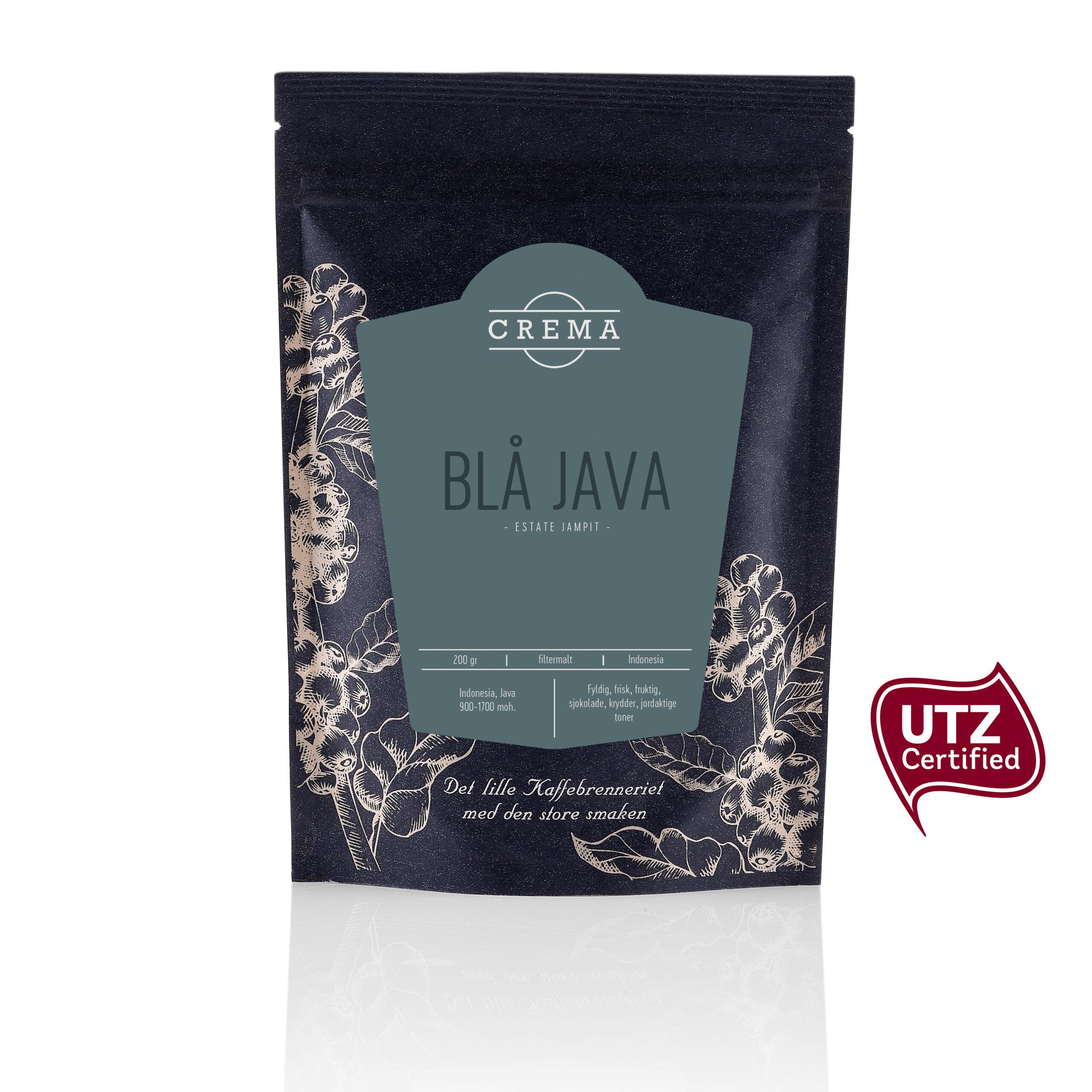 Crema Blå Java kaffe filtermalt