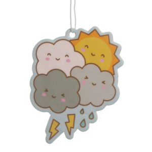 Søte skyer som dufter deilig bringebær
