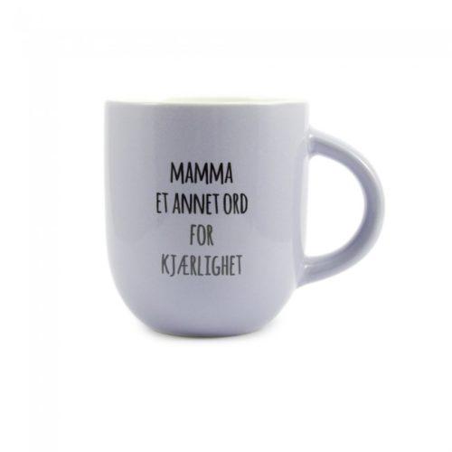 Krus med teksten Mamma - Et annet ord for kjærlighet