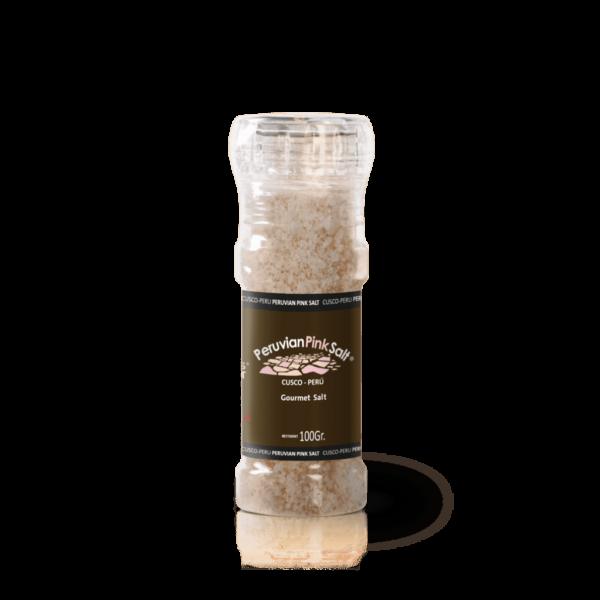 PERUVIAN PINK SALT GRINDER 1
