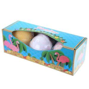 Tropiske badebomber med nydelige dufter i pen gaveboks