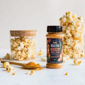 Baconkrydder original krydderboks med popcorn