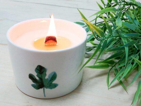 Botanisk duftlys, premium versjon som varer i 27 timer