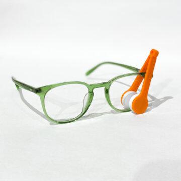 Brillerens festet til grønne briller