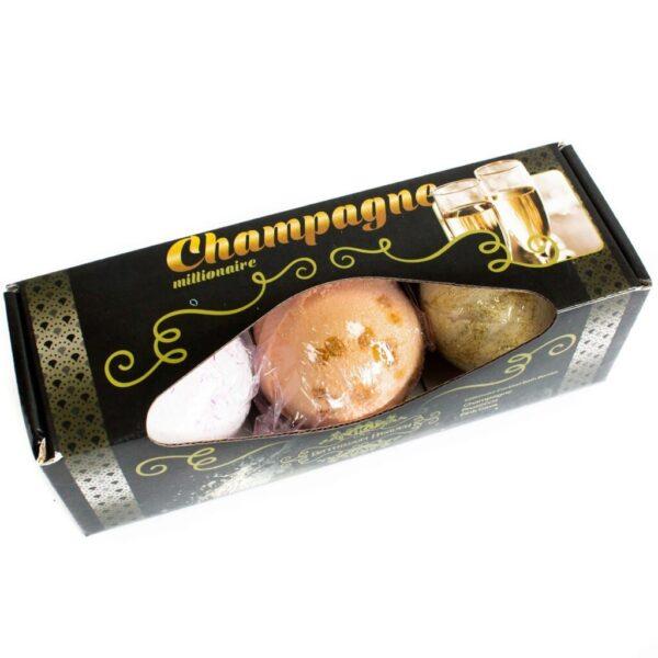 Champagne Badebomber i gaveeske