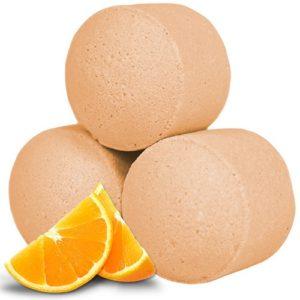 Små tropiske badebomber med duft av appelsin