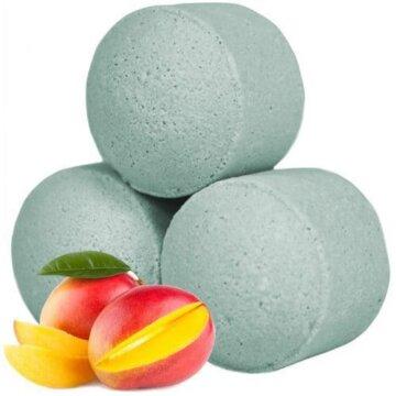 Nydelige små badebomber med lukt av mango