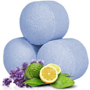Små badebomber med duft av lavendel og bergamott
