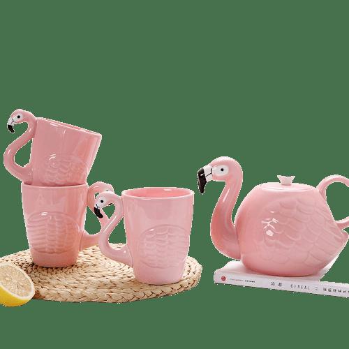 Flamingo tekannesett