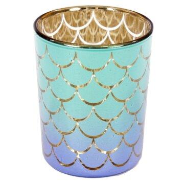Havfrue telysholder i blålig design