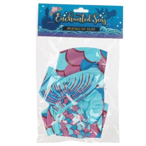 Havfruehale - Oppblåsbar drikkeholder i emballasje