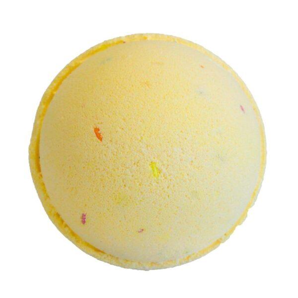 Klassisk Margarita badebombe, gul med sprinkles