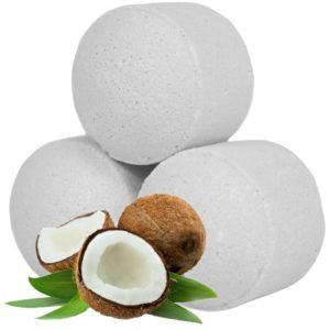 Små badebomber med duft av kokos