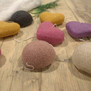 Formede konjaksvamper til dusj og velvære