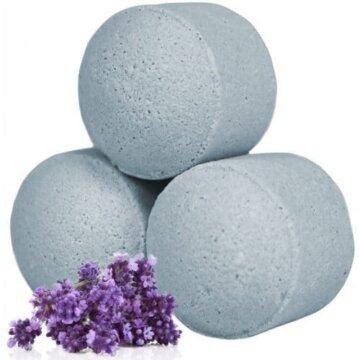 Nydelige små badebomber med lukt av lavendel