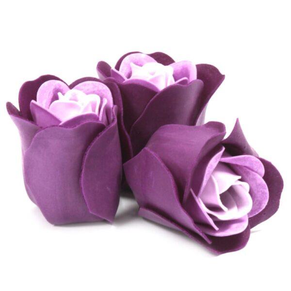 Såpeeske med roser til badekar med lavendelduft