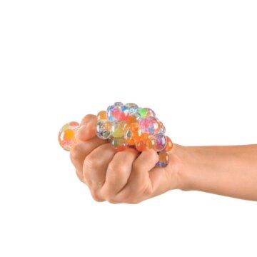 Morsom squishy stressball i hånd