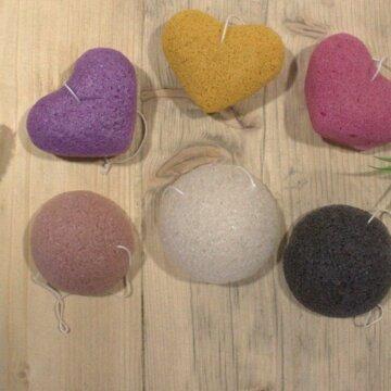 Formede svamper til dusj og velvære