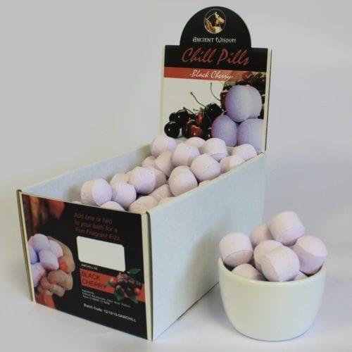 Små badebomber i eske - Med duft av kirsebær