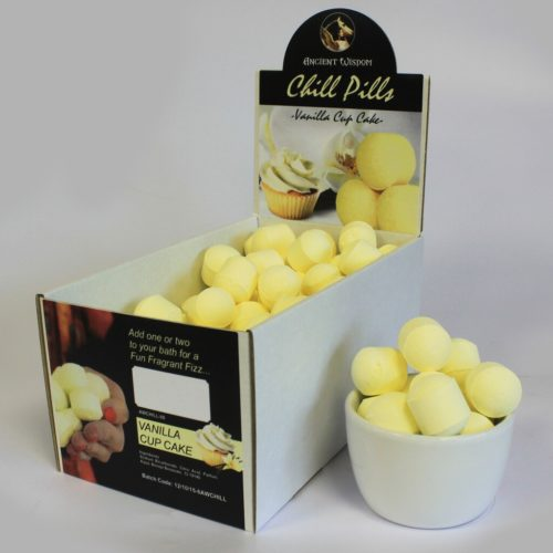 Små gule badebomber med duft av vanilje-muffins