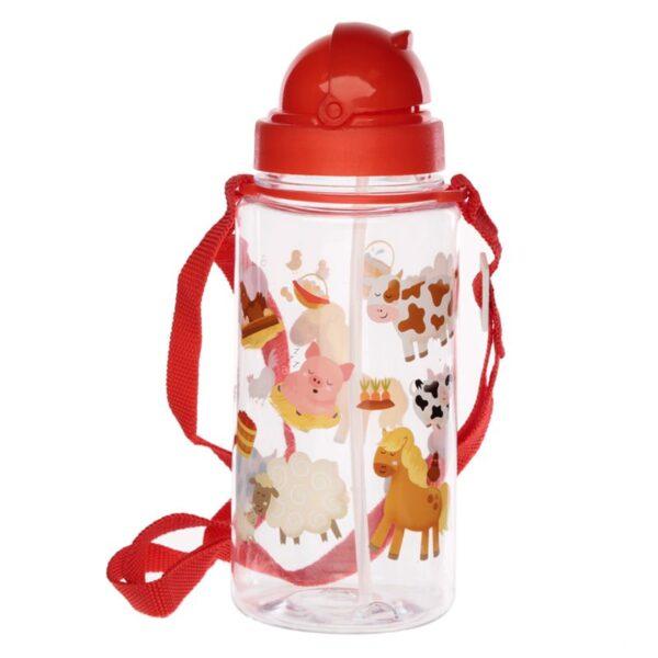 Rød/klar drikkeflaske til barn