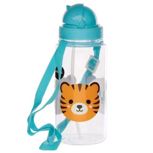 Drikkeflaske - Blå, Tiger