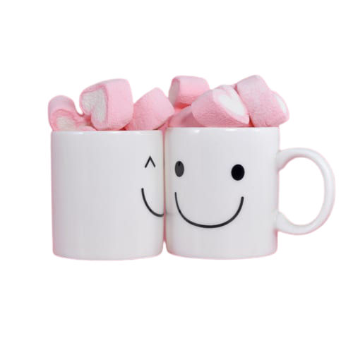 hjerteformet marshmallows i kopp46195 nobg