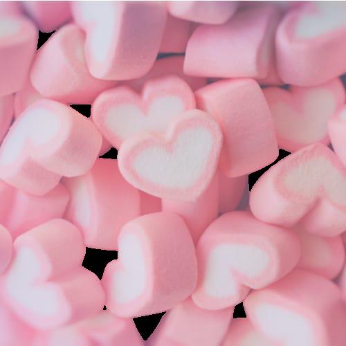 hjerteformet rosa marshmallows75543 nobg