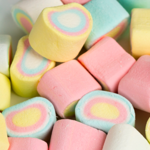 Regnbue Marshmallows