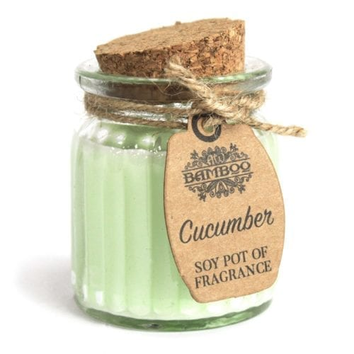 Få spa-følelsen hjemme med duftlys infusert med agurk