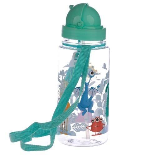 Monstermotiv drikkeflaske til barn fra Puckator