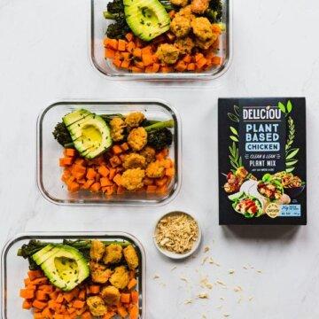 plantebasert mix på matrett med grønnsaker