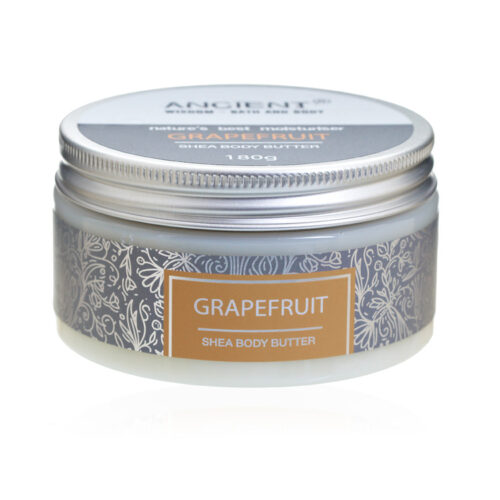 shea body butter med herlig duft av grapefrukt