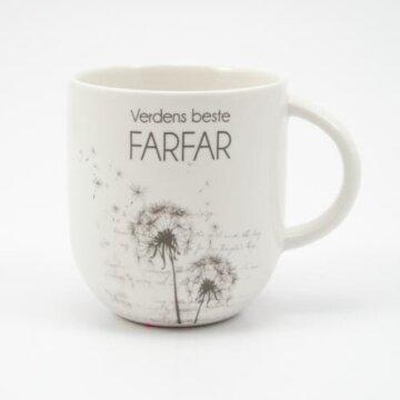 Verdens beste farfar kopp hvit løvetann