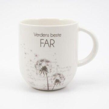 Verdens beste far kopp hvit løvetann