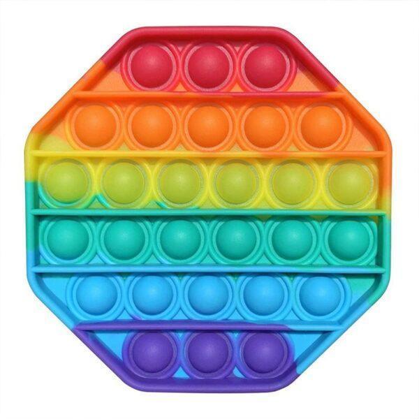 Pop it fidget i flere farger, åttekantet